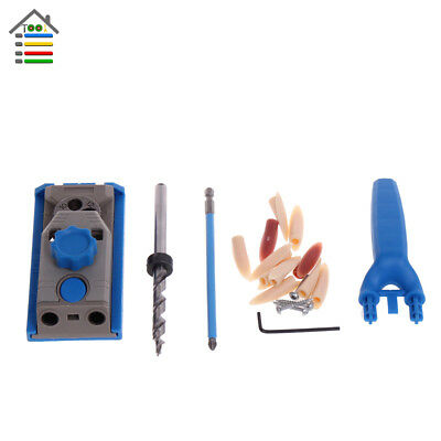Mini Pocket Hole Jig Kit Woodworking Joinery Step Drill Bit Joiners Set for Kreg