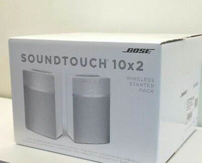 BOSE SOUNDTOUCH 10 x 2 WIRELESS STARTER PACK Wi-Fi & BLUETOOTH SPEAKERS - White