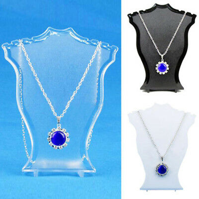 Pendant Necklace Earring Bust Neck Display Stand Holder Showcase Plastic Nimble