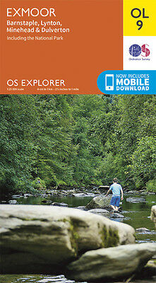 EXMOOR EXPLORER Map - OL 9 - OS - Ordnance Survey - INC. MOBILE DOWNLOAD