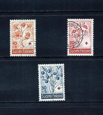 FINLAND _ 1958 'RED CROSS' SET of 3 _ used ____(491)