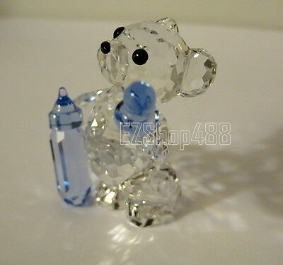 Swarovski Crystal Figurine #905790 Kirs Bear It's A Boy RARE New in Box