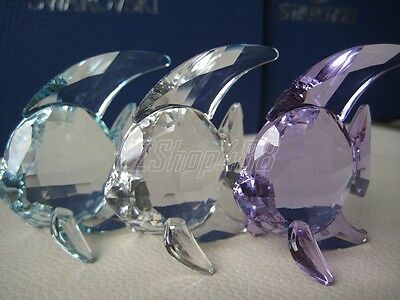 $170 Swarovski Crystal Figurine #1043243 Fish (set of 3)  New in Box