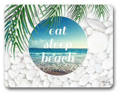 Country Inspired Kitchen EAT SLEEP BEACH Kelly Lane Cork Backed Placemats AND...