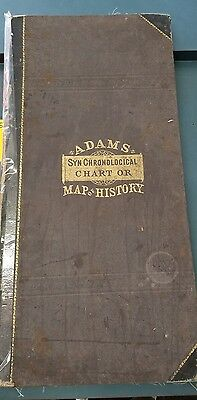 Rare Chronological Syn Chronological Chart or Map of History Adams