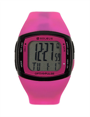 Soleus Pulse Rhythm Heart Rate & Activity/Calorie Monitor Watch - SH010-611 PINK