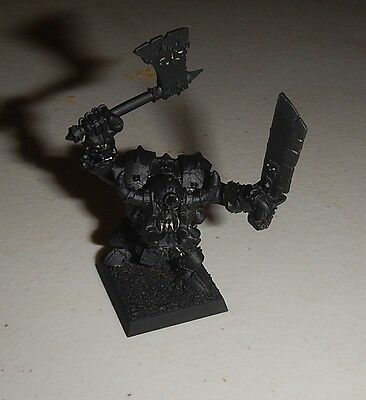 Warhammer fantasy / KOW metal orc & goblin limited ed black orc boss + Grimgor