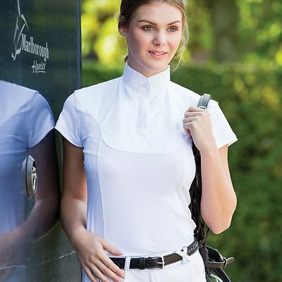 Equetech Hexatec Ladies Competition Shirt - Short Sleeve - White or Yellow