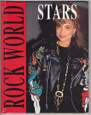 Rock World Stars 1991 Book Paula Abdul Cover Beatles Elvis Madonna M.Jackson Etc