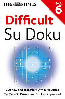 The Times Difficult Su Doku Book 6, The Times Mind Games, New Book