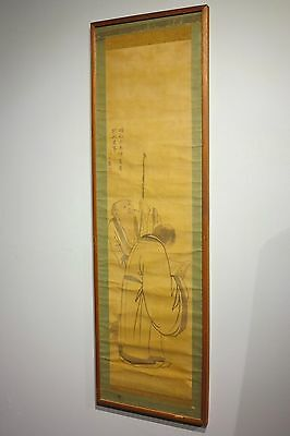 c.1800 antique Chinese silk scroll painting