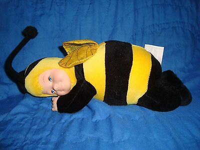"Anne Geddes Baby Doll Bumble Bee Plush & Beans 8"" Long"