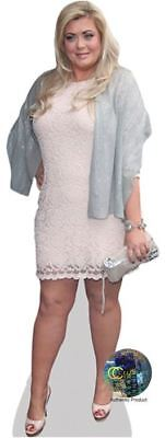 Gemma Collins (White Dress) Cardboard Cutout (lifesize OR mini size). Standee.