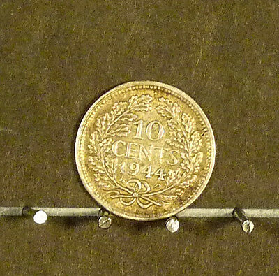 1944 Netherlands 10 Cent Coin  F60