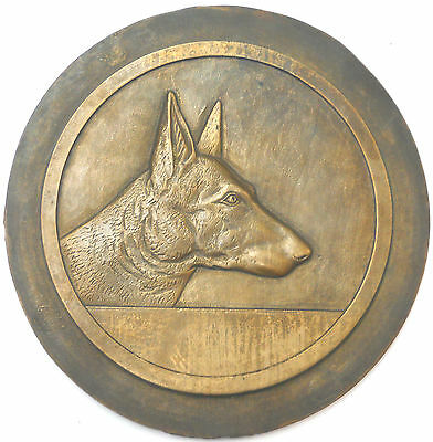 France HEAD OF A DOG huge cast bronze studio model 206mm (about 8 inches)