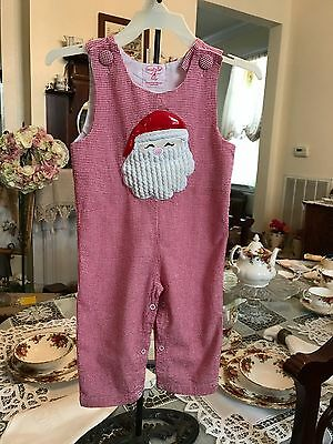 """MudPie Baby Infant Boys Long all size 12-18 months 'SANTA"""""""