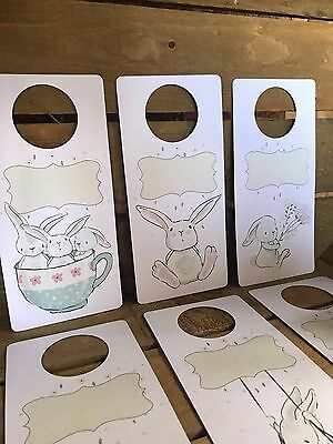 blank bunny rabbit WARDROBE cupboard drawer OGANISERS dividers ORGANIZER tags