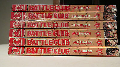 Battle Club vol. 1 2 3 4 5 6  Manga Graphic Novel Book Complete Lot in English