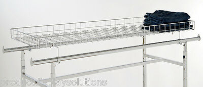 Top Wire Basket Topper for the Double Rail H Racks | CHROME