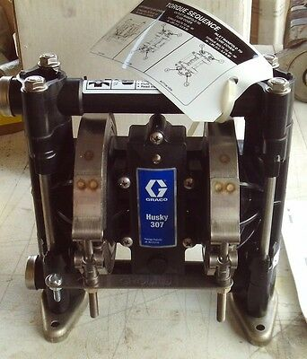 Graco Husky 307 Plastic Air-Operated Double Diaphragm Pump D31255 - Ships FREE