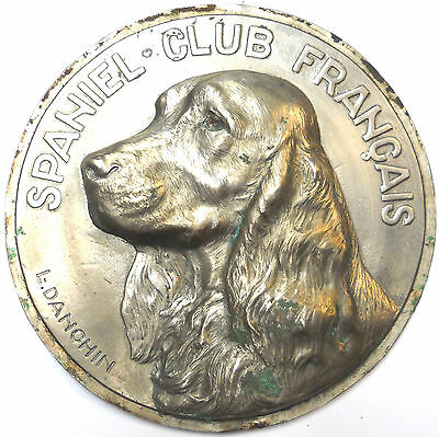 """Dog SPANIEL CLUB OF FRANCE huge galvano 163mm (about 6 1/2"""") by Danchin"""