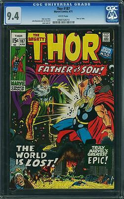 THOR #187 CGC 9.4 White Pages THOR VS. ODIN APP BUSCEMA & SINNOTT COVER
