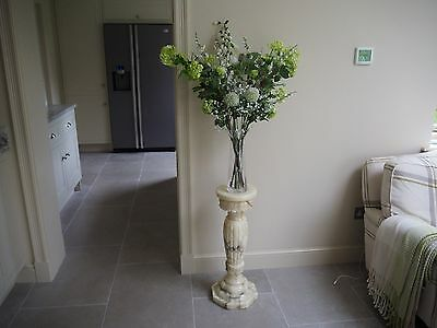 Natural used marble decorative pedestal