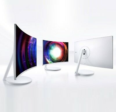 "Samsung Curved Monitor C32H711 QLED 32"" 81cm HDMI WQHD LED Apple-tauglich WEISS"