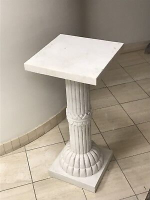 Carved Marble Pedestal Pillar Stand