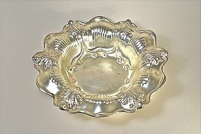 J E Caldwell sterling silver fruit bowl Philadelphia repousse 925 21oz.not scrap