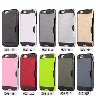 """10/Lot Hybrid Rugged Impact Credit Card Holder Case Cover for 4.7"""" iPhone 6 6S"""