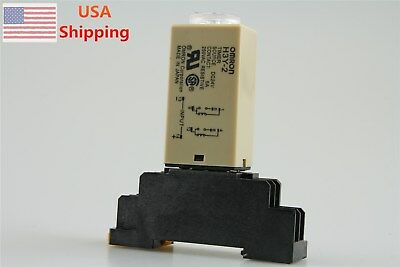 DC 24V H3Y-2 H3Y Delay Timer Time Relay 0-60 Second 60s 60sec 24VDC & Base