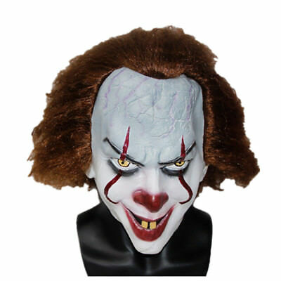 Stephen King's It Mask Pennywise Clown Halloween Costume 2017 -US Seller- New