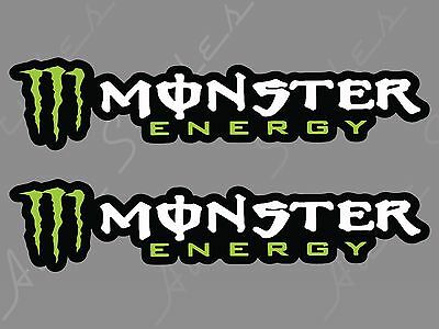 Monster Energy Sticker Decal Nascar Cup Series Race Auto Moto Cross Sports PAIR