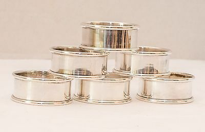 Sterling Silver Napkin Rings - Antique Alvin - Set Of Six