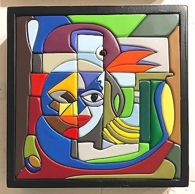artwork - wood and acrylic paints