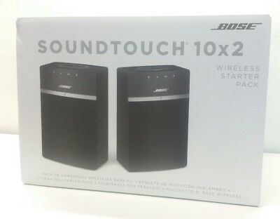 BOSE SOUNDTOUCH 10 x 2 WIRELESS STARTER PACK Wi-Fi & BLUETOOTH SPEAKERS - BLACK