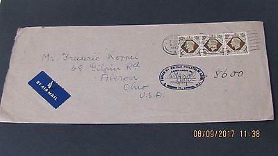 3/- On Airmailed British Philatelic Association Mail to Akron, OH