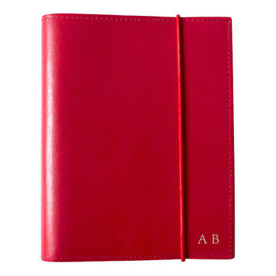 NEW A6 Red Leather Journal