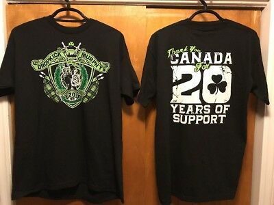 DROPKICK MURPHYS ~ RARE NEW 2016 Tour 20 YEARS of Support CANADA 2 Sided T Shirt