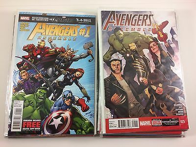Avengers Assemble #1-25 + Annual 2012 Bendis Complete Set Full Run NM