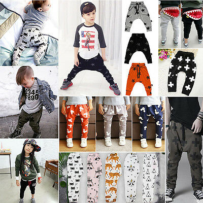 Newborn Kids Baby Boys Girls Bottom Harem PP Leggings Pants Trousers Sweatpants