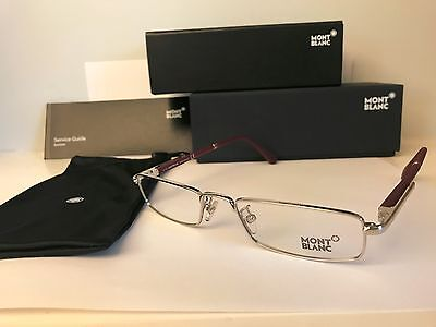 New MONT BLANC MB448 017, Silver, Rx Rimless Eyeglasses, 54-20-145 mm