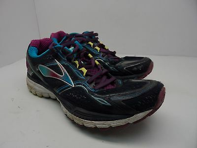 Brooks Women's Ghost 8 Running Athletic Shoe Navy/Multi Size 11M