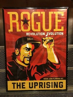 ROGUE BREWERY DEAD GUY ALE ~ The Uprising ~ Discontinued Framed Beer Art Print