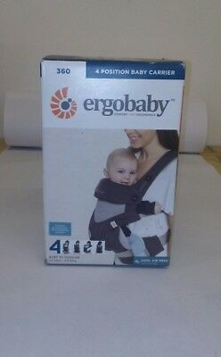 ERGOBABY 360 4 Position baby carrier/ COOL AIR MESH CARBON GREY/ NEW without box