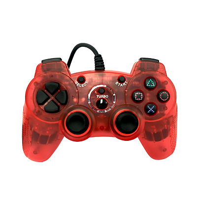 Old Skool Dual Analog Double-Shock 2 Wired Controller for PlayStation 2 PS2 Red