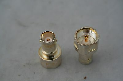 Bnc Jack Female Inter Series Connector Face Gold Contacts Ccs-Ge508 Ref 778A