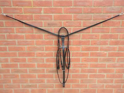Lovely Leather Elastic Breastplate Market Harborough Attachment Strap Cob Pony