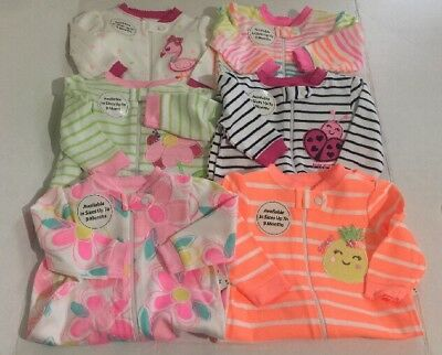 NWT Garanimals Baby Girl 0/3 Sleeper Pajama Clothes O-3M Lot Of 6